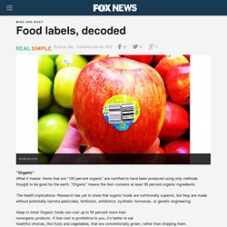 Food labels, decoded