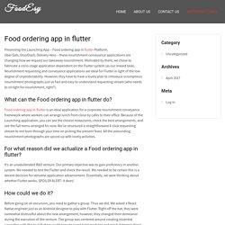 Food ordering app in flutter - FoodEsy