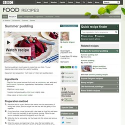 Food - Recipes : Summer pudding