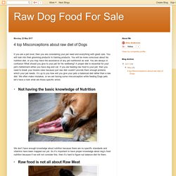 Raw Dog Food For Sale : 4 top Misconceptions about raw diet of Dogs