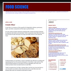 FOOD SCIENCE: Crude Fiber