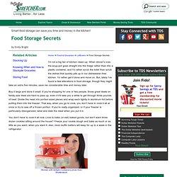Food Storage Secrets