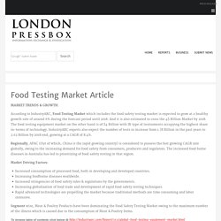 Food Testing Market Article