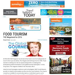 FOOD TOURISM : THE Megatrend for 2016