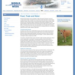 Food, Trade and Water