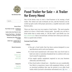 Food Trailer for Sale – A Trailer for Every Need