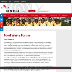 Food Waste Forum - Slow Food International