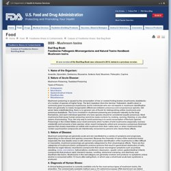FDA 22/03/13 BBB - Mushroom toxins