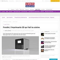 Foodini, l'imprimante 3D qui fait la cuisine