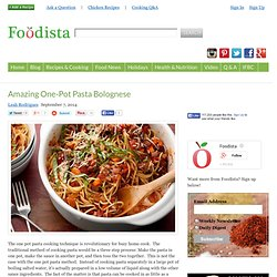 Amazing One-Pot Pasta Bolognese