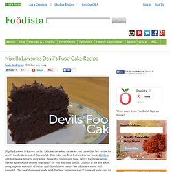 Nigella Lawson's Devil's Food Cake Recipe