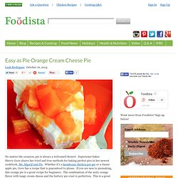 Easy as Pie Orange Cream Cheese Pie