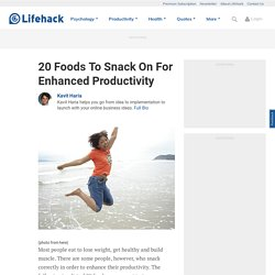 Foods for Enhanced Productivity