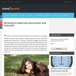 08 vitamins and minerals rich Foods To Make Hair Grow Faster And Naturally