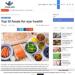 Top 10 foods for eye health - Beauty & Fitness