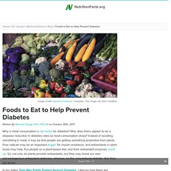 Foods to Eat to Help Prevent Diabetes