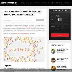 10 Foods That Can Lower Your Blood Sugar Naturally