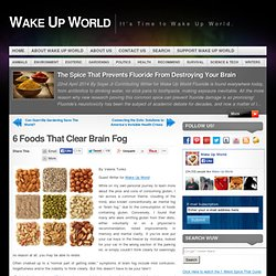 6 Foods That Clear Brain Fog