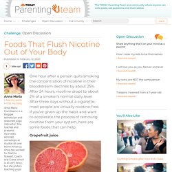 Foods That Flush Nicotine Out of Your Body