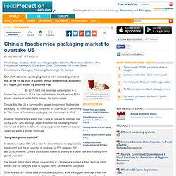 China's foodservice packaging market to overtake US
