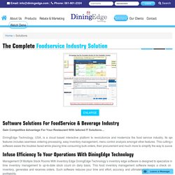 Food Service & Beverage Industry Complete Software Solution