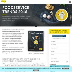 Foodservice Trends 2016