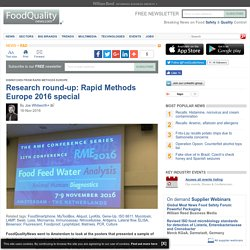 FOOD NAVIGATOR 16/11/16 Research round-up: Rapid Methods Europe 2016 special.