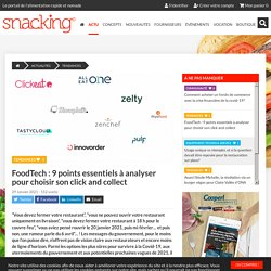 FoodTech : 9 points essentiels à analyser pour choisir son click and collect