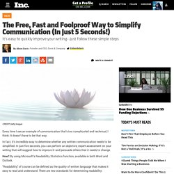 The Free, Fast and Foolproof Way to Simplify Communication (In Just 5 Seconds!)