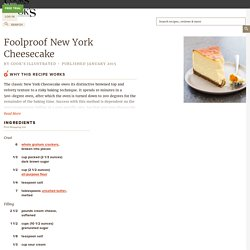 Foolproof New York Cheesecake