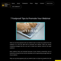 7 Foolproof Tips to Promote Your Webinar