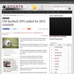UW football: BYU added for 2013 schedule : Sports