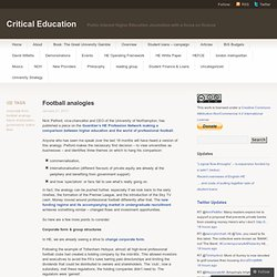 Football analogies « Critical Education