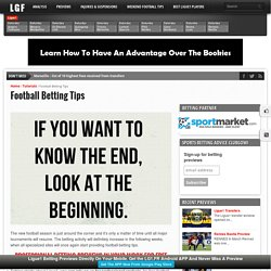 Football Betting Tips - Ligue❶ Betting Tips & Previews