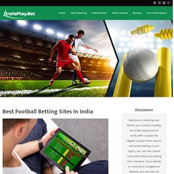 Football Betting Sites in India