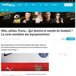 Nike, adidas, Puma... Qui domine le monde du football ? La carte mondiale des équipementiers