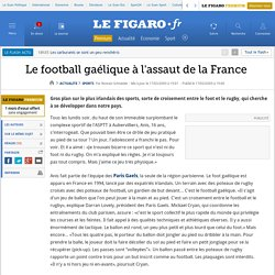 Le football gaélique à l'assaut de la France
