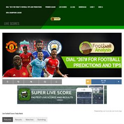 Live Football Scores all over the World