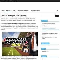 Football manager 2016 Anúncio - tt