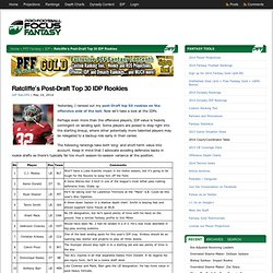 2014 Post-Draft Top 30 Fantasy Football Rookie IDP Rankings for Dynasty Leagues