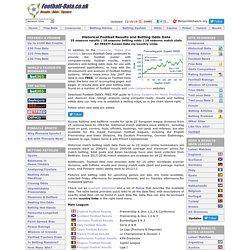Football Results, Statistics & Soccer Betting Odds Data