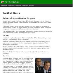 Football Rules and Gameplay - How to Play Football