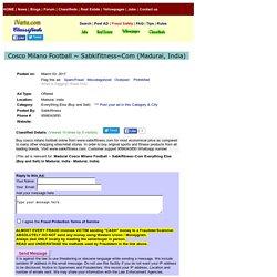 Cosco Milano Football ~ Sabkifitness~Com Madurai Buy Sell