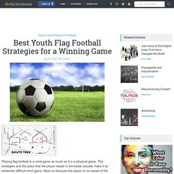 Best Youth Flag Football Strategies for a Winning Game