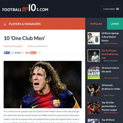Football Top10s - 10 'One Club Men'