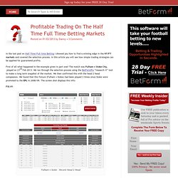 Half Time / Full Time Market