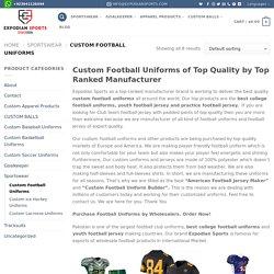 Custom Football Uniforms professional Builder