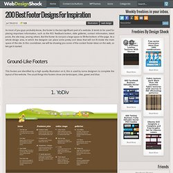 Footer design, 200+ best