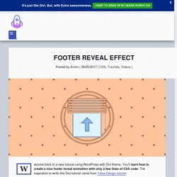 Footer reveal effect - YouDivi