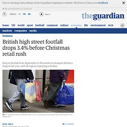 British high street footfall drops 3.4% before Christmas retail rush